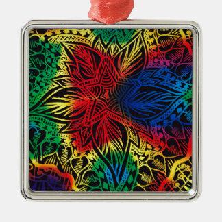 Star Flower Rainbow Christmas Ornament