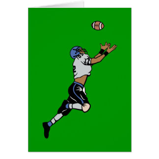Star Football Player Greeting Card