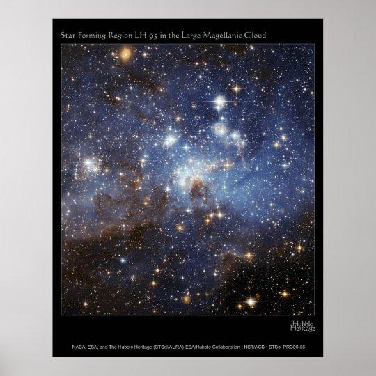 Star Forming Region LMC LH95 Poster
