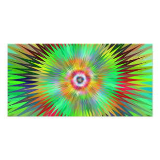 Star fractal photo greeting card