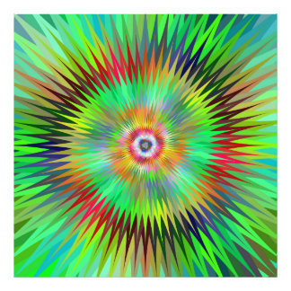 Star fractal photographic print