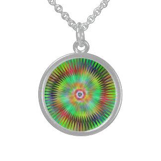 Star fractal sterling silver necklace