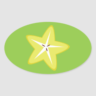 Star Fruit Oval Sticker
