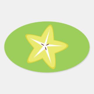 Star Fruit Oval Sticker