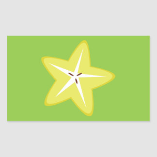 Star Fruit Rectangular Sticker