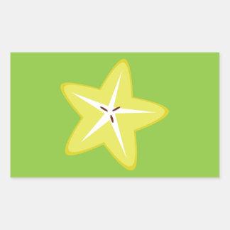 Star Fruit Rectangular Sticker