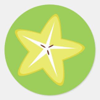 Star Fruit Round Sticker