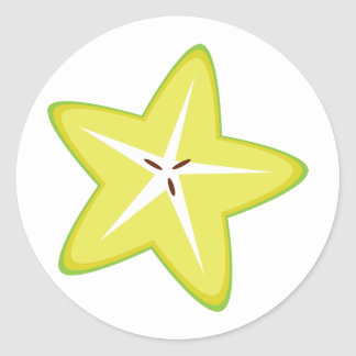 Star Fruit Round Sticker