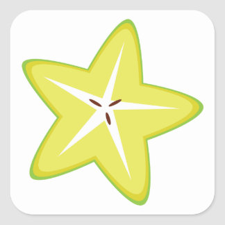 Star Fruit Square Sticker
