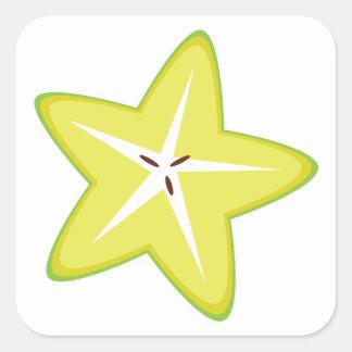 Star Fruit Square Sticker