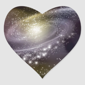Star Galaxy Galactic Space Print Heart Sticker