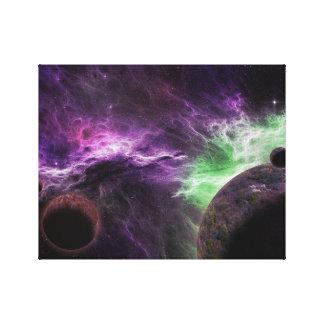 Star Galaxy with Beautiful Nebula Canvas Print