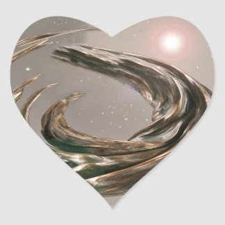 Star Gate1 in Outer Space Heart Stickers