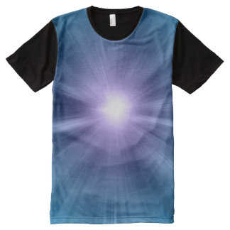 Star Gate Blue Burst All-Over Print T-Shirt