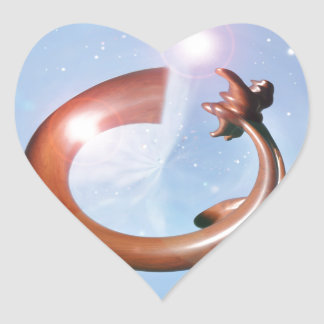 Star Gate in Outer Space Heart Sticker