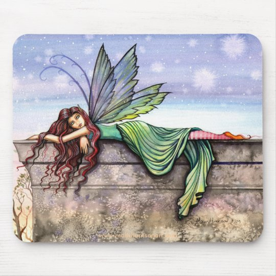 Star Gazer Fairy Mousepad by Molly Harrison