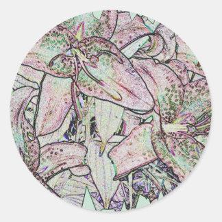 Star Gazer Lilies in Pencil Stickers
