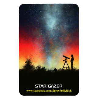 Star Gazer Rectangular Photo Magnet