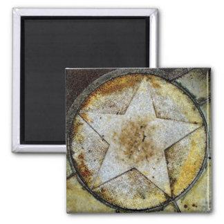 Star Gazer Square Magnet