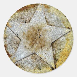 Star Gazer Round Stickers