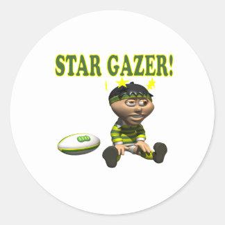 Star Gazer Round Sticker