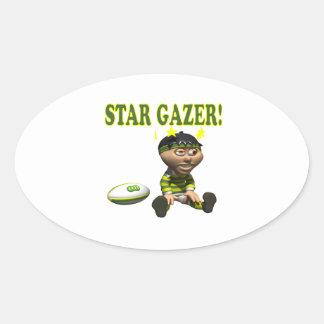 Star Gazer Oval Sticker