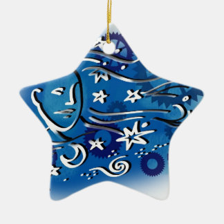 star gazing ceramic star decoration