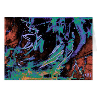 Star Gazing Colorful Art Note Card