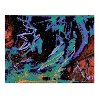 """Star Gazing"" Colorful Art Postcard"