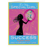 Star Girl Success Greeting Card