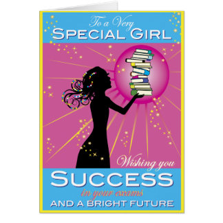 Star Girl Success Greeting Card