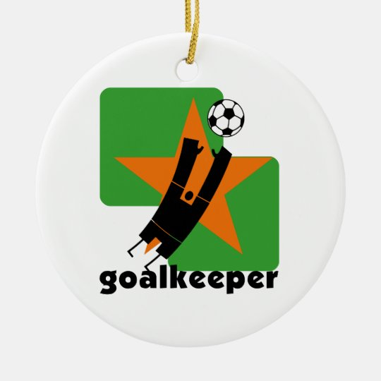 Star Goalkeeper T-shirts and Gifts Christmas Ornament
