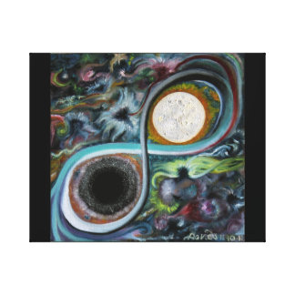 Star Goddess & Child Maintaining the Balance of th Canvas Print