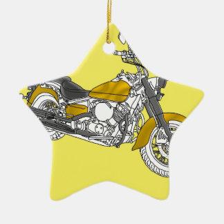 Star Gold Bike Christmas Ornament