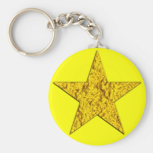 Star (gold nugget) key chains