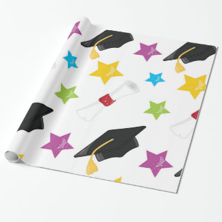 Star Graduate Wrapping Paper
