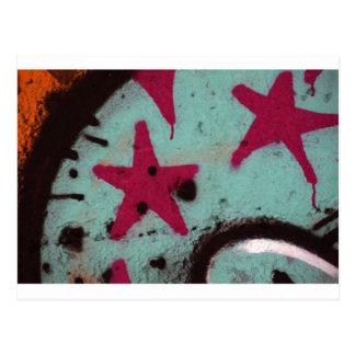 Star Graffiti Postcard