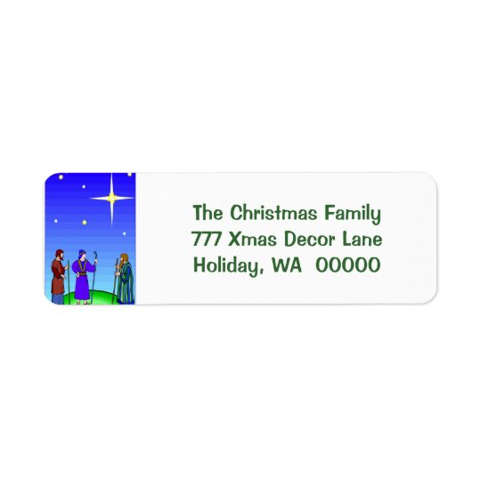 Star Guides Wise Men Christmas Self Adhesive Label Return Address Label
