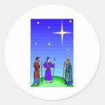 Star Guides Wise Men Round Sticker