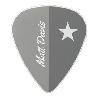 star guitarist, custom name, black/white acetal guitar pick