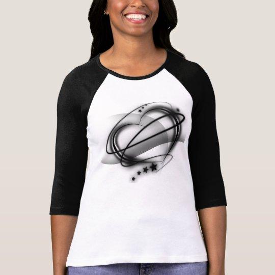 Star Heart Black T-Shirt
