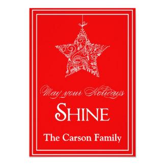 Star Holiday Card - Star Christmas Card 13 Cm X 18 Cm Invitation Card