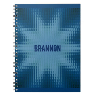 Star Illusion with Name Note Book