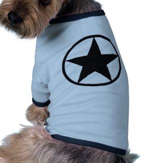Star in circle pet tee shirt