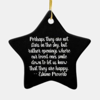 Star In Memory Of Ornament