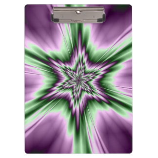Star in Purple and Green Clipboard