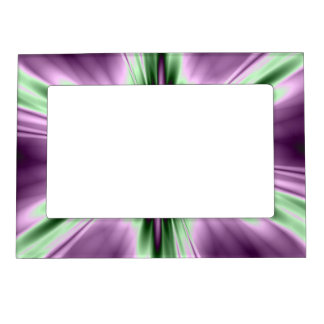 Star in Purple and Green Magnetic Picture Frame