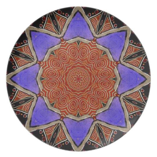 Star Kaleidoscope Plate