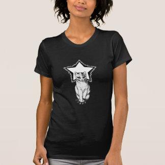 Star Kitty (black) Tshirts