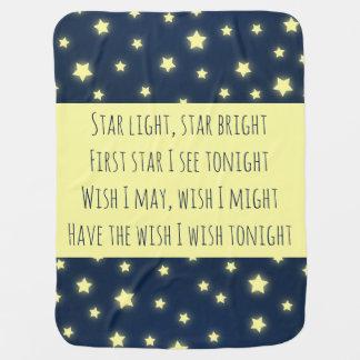 Star Light, Star Bright Baby Shower Nursery Baby Blanket